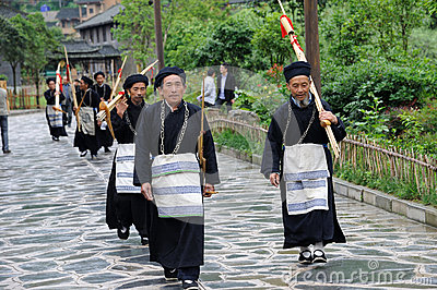 Hmong musicians from Guizhou with lusheng Editorial Image