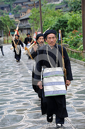 Hmong musicians from Guizhou with lusheng Editorial Photography