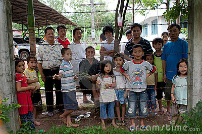 Hmong refugees in IDC Nong Khai, Thailand Editorial Image