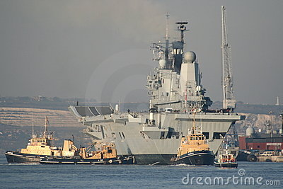 HMS Ark Royal returns home
