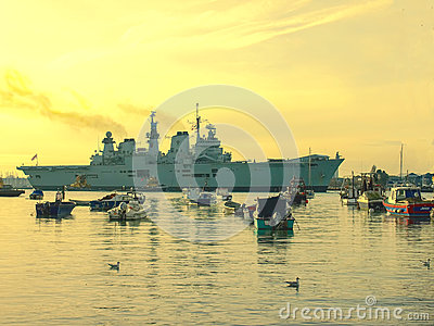 HMS Illustrious Editorial Stock Image