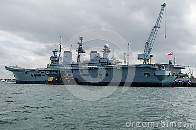 HMS Illustrious, Portsmouth Fotografia Editorial