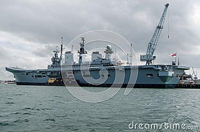 HMS Illustrious, Portsmouth Fotografia Editorial
