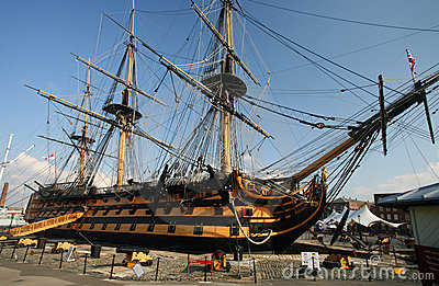 HMS Victory at Portsmouth Harbour, England