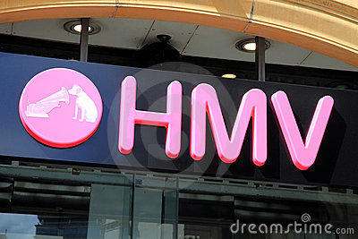 HMV sign Editorial Stock Image