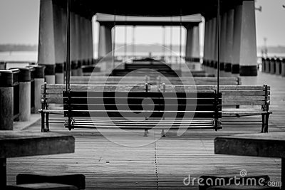 Auf dem Dock Mama