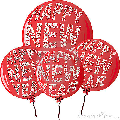 Free HNYBalloonsRed Royalty Free Stock Images - 7255469