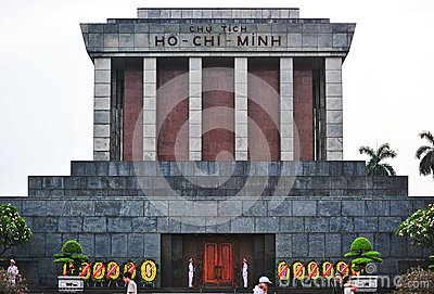 Ho Chi Min Masoleum, Hanoi Immagine Stock Editoriale