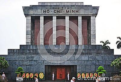 Ho Chi Min Masoleum, Hanoi Redactionele Stock Afbeelding