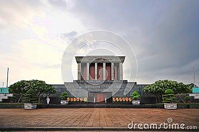 Ho Chi Min Masoleum Hanoi Redaktionell Bild