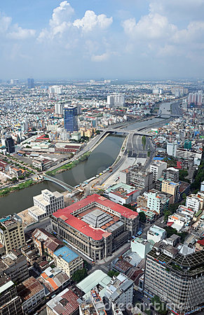 Ho Chi Minh City Aerial View, Saigon Vietnam Editorial Photo