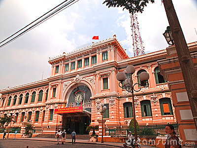 Ho Chi Minh City-Post Office Editorial Photography