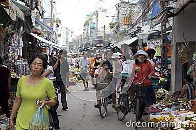 Ho Chi Minh City Street Market Editorial Photo