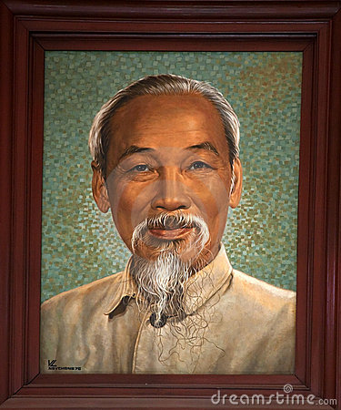 Ho Chi Minh Painting Old Post Office Saigon Editorial Photo