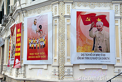 Ho Chi Minh posters Editorial Photography