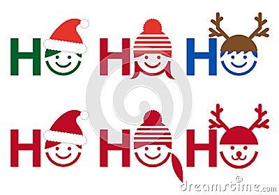 Ho ho ho Christmas card, vector