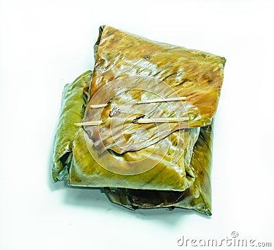 Ho-Mok  (minced pork in leaf banana roast).