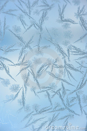 Hoarfrost pattern on glass