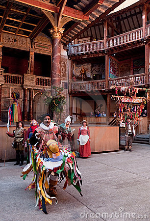 Hobby Horse, Globe Theatre, October Plenty London Editorial Photo