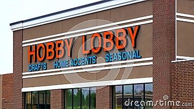 Hobby-Lobby-Speicher stock video