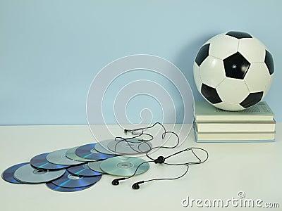 Hobby: muziek en voetbal
