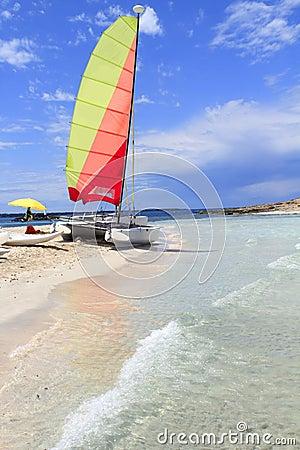 Hobie cat catamaran formentera beach Illetas