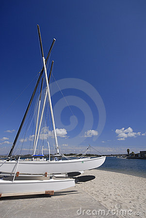 Hobie catamarans at the beach