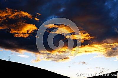 Hochrote Wolken