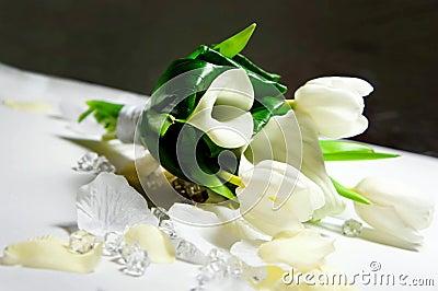 Hochzeitsblumenstrauß der weißen Blumen