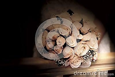 Hochzeitsblumenstrauß im Sepia