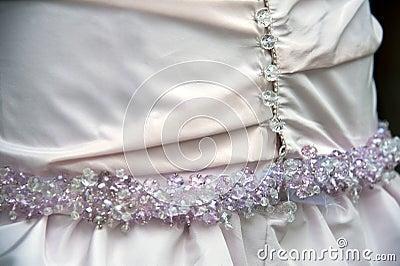 Hochzeitskleiddetail