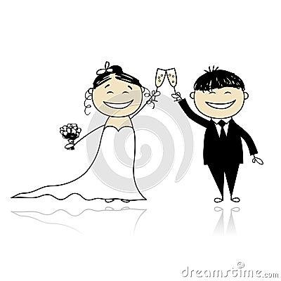 Hochzeitszeremonie - Braut und Bräutigam zusammen