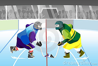 Hockey face off