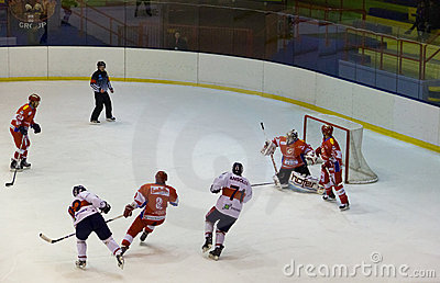 Hockey game Editorial Stock Image