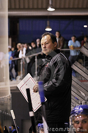 Hockey game coach Editorial Photo
