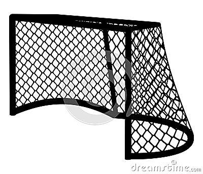 Hockey goal silhouette.