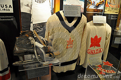 Hockey Hall of Fame sweaters Editorial Photography