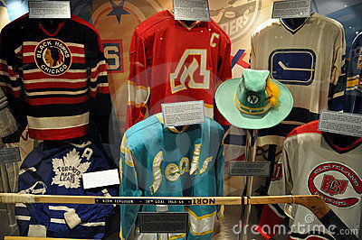 Hockey Hall of Fame sweaters Editorial Photo