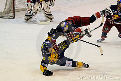 hockey hit Editorial Stock Image