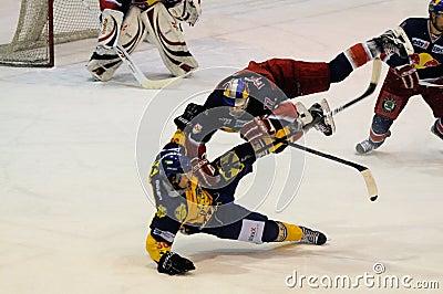 hockey hit Editorial Stock Image