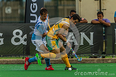 Hockey International Argentina V South-Africa Editorial Photo