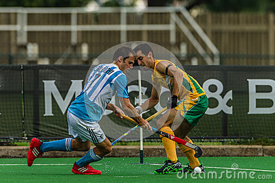 Hockey International Argentina V South-Africa Editorial Stock Image