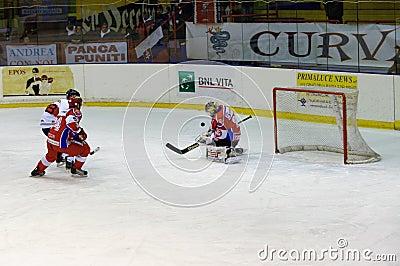 Hockey Milano Rossoblu Editorial Image