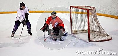 Hockey player scores