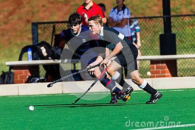 Hockey Players Ball Challenge Possession Editorial Stock Photo