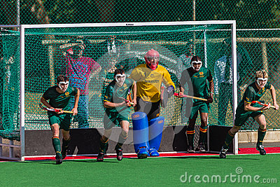 Hockey Players Goals Editorial Stock Photo