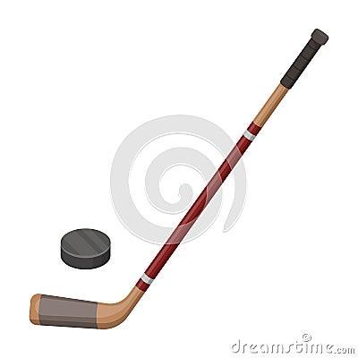 Free Hockey Stick And Washer. Canada Single Icon In Cartoon Style Rater,bitmap Symbol Stock Illustration Web. Stock Image - 91848451