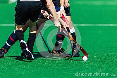 Hockey Unidentified Players Clash Ball Sticks Editorial Stock Image