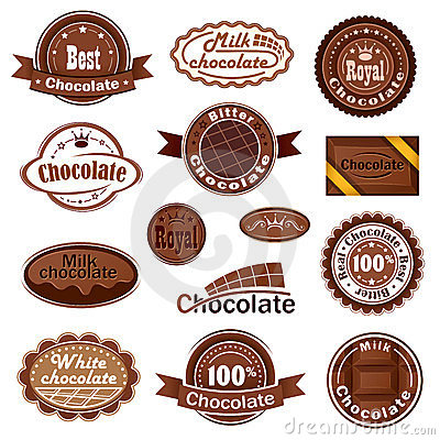Сhocolate badges and labels