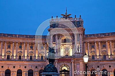 Hofburg Heldenplatz in Vienna Austria
